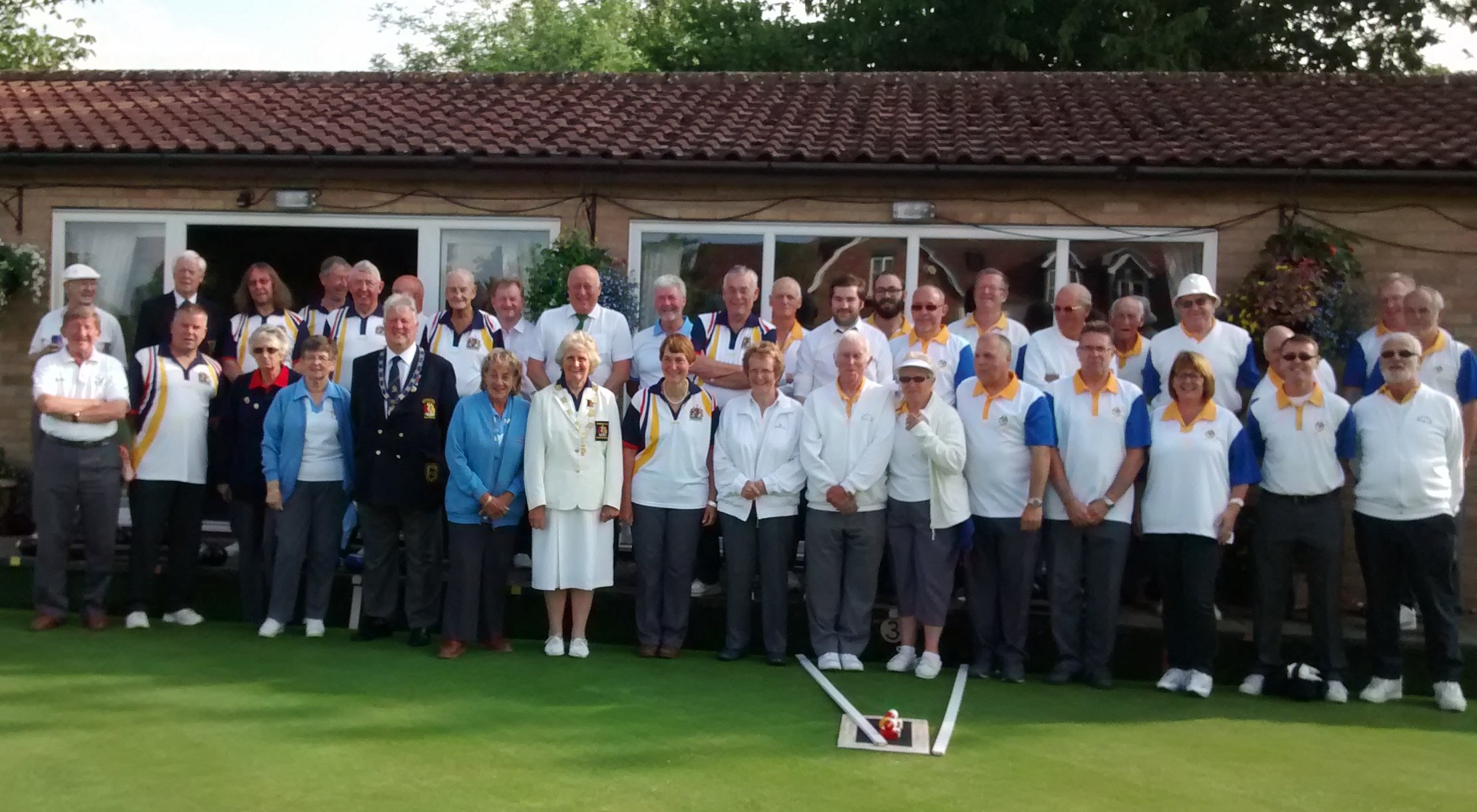 Visit by Beds County Bowls