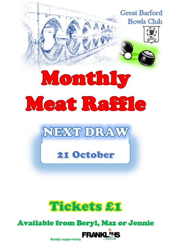 Meat Draw 21 Oct