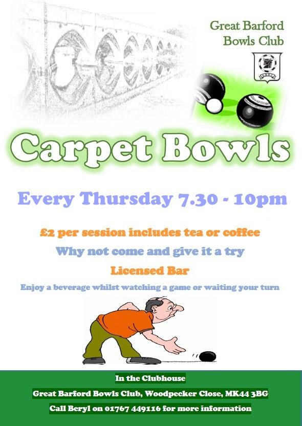 Carpet bowls every Thursday